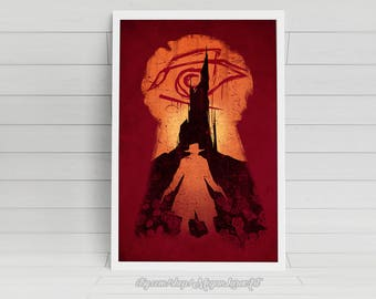 """He Followed - """"The Dark Tower"""" -  11x17 signed poster"""
