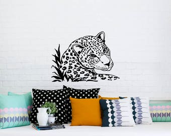 Animals Wall Decal Wild Cat Decals Tiger Jaguar Leopard Print Vinyl Sticker  Home Decor Nursery Bedroom Dorm L258