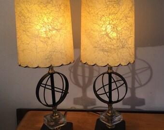 Pair of Bedroom Vanity or Nightstand Lamps 1940's