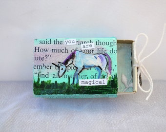 you are magical upcycled matchbox