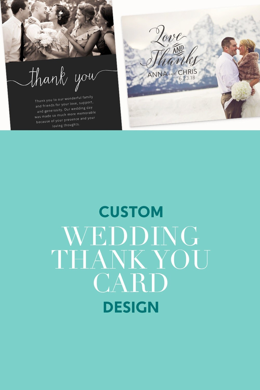custom wedding thank you cards photo custom wedding thank