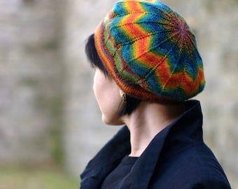 Symetrie beret PDF knitting pattern (instructions)