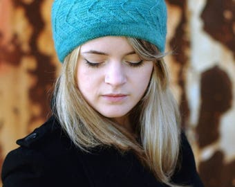 Out of the Darkness beret+beanie PDF knitting pattern (instructions)