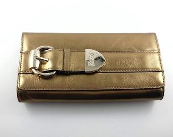 1990's Vintage Gucci Clutch Bag Vintage Gold Buckle Gucci Bag Vintage Gold Gucci Purse Vintage Gold Gucci Gift For Her Gift For Mom