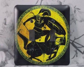 Metal Warrior Light Switch Cover - Roman Warrior - 2T Two Toggle