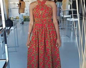 Christina Halter Top Maxi Dress