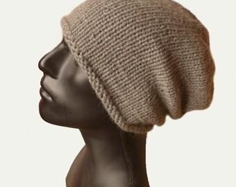 Mens Knit Hat - Mens Beanie - Beanie Hat - Baby Alpaca Hat - Men's Slouchy Hat - Mens Winter Hat - Grey Hat - Warm Winter Hat - Urban Style