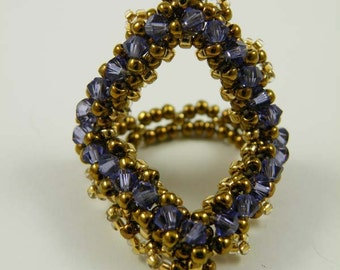 Beading Tutorial - Crystalline Ring