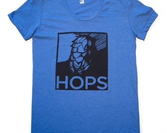 HOPS-T-Shirt-Womens-American Apparel swoop neck-This style runs small-Every brewer needs a little Hope in their Hops
