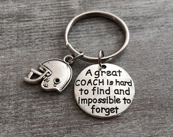 A great coach is hard to find and impossible to forget, Number 1 Coach Gift, Football Coach, Gift for Coach, Football Helmet, Gifts