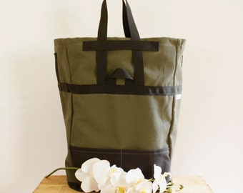 Reusable Grocery Bag,  Grocery Bag ~ Canvas Market Bag, Farmers Market Bag,  12 oz Carhartt Cotton Canvas Grocery Bag
