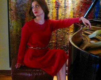 Red Wool Dress