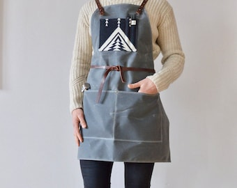 Waxed Canvas and Pendleton® Wool Apron