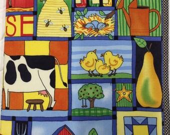 "Farm Animals, Pooh Bear ""I Spy"" Fabric Busy Book"
