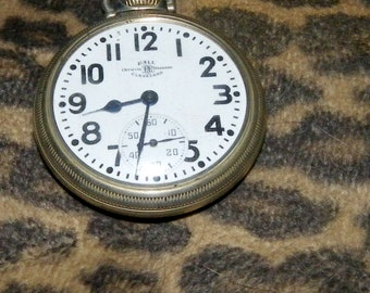 Pocket Watch  21J 999B Ball 6 pos marked official  R.R. standard 16 size stem wind lever set