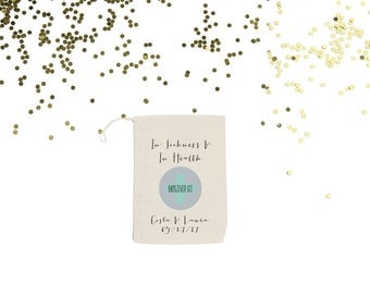 In Sickness and in Health {set of 10} Personalized Wedding Hangover Bags Custom Recovery Kit Bags