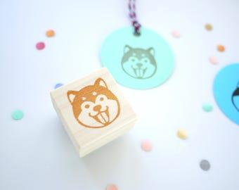 Japanese Shiba inu Rubber Stamp, Kawaii Pet Stamp, Japanese Stationery, Dog Stamp