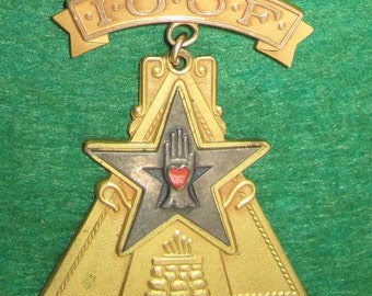 1930's Highest Branch Of Independant Order Of Odd Fellows IOOF Encampment Pin - Free Shipping
