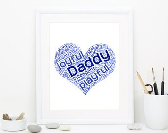 Father's Day Gift, Fathers Day Gift, Father's Day Printable, Personalized gift for dad, Kids gift to a father, Gift for dad, Dad gift ideas,