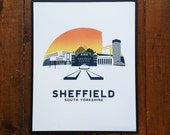 Sheffield Screen Print Art Poster by OR8 DESIGN