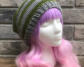 Slytherin Slouchy Beanie: MADE TO ORDER