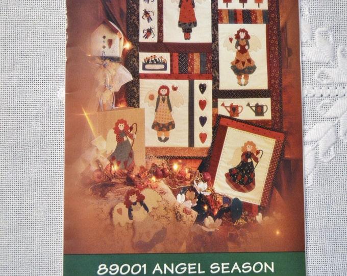 Angel Season Applique Quilting Pattern Fiber Mosaics Sewing Quilting PanchosPorch