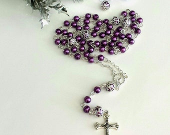 Handmade Rosaries for Catholic Baptism,First Communion, Rosary, Weddings, Baptism Gift, Handmade Rosaries,Necklace Rosaries, Gift Ideas