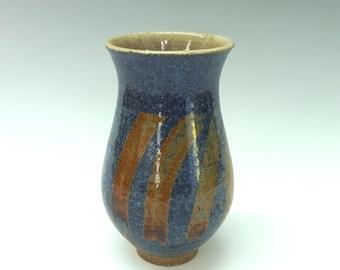 blue vase ceramic vase flower vase blue flower vase handmade high