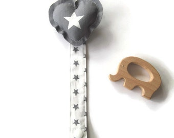 Clip pacifier-clamp for the pacifier of you baby-clip pacifier heart-