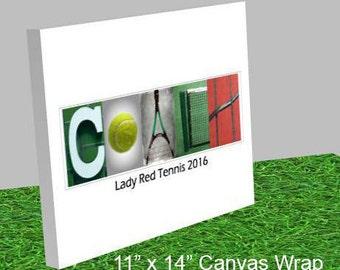 Gift for Tennis Coach - Tennis Coach Team Gift - Tennis Gift - Best Tennis Coach Gift - Tennis Coach - Tennis Mom - Tennis Dad - Canvas Wrap