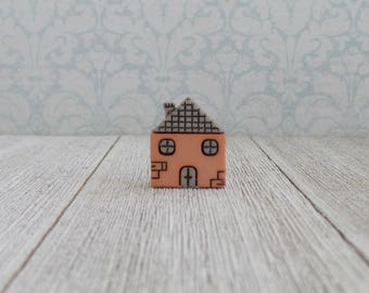Home Is Where The Heart Is - Real Estate Agent - Housewarming - Building - Builder - Home - Moving - Lapel Pin
