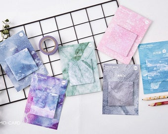 Marble Sticky Notes Set - Cute Sticky Notes for Filofax or Erin Condren Planner