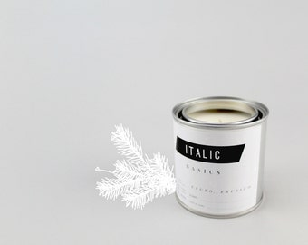 06 // Balsam Fir - Half Pint (8oz) Scented Soy Candle in Paint Can