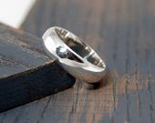 Mens Classic Wedding Band Ring.  Mens Sterling Silver Classic Wedding Band Ring. 6mm His and hers wedding band ring