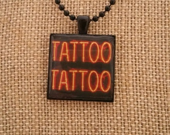 Tattoo Pendant Necklace