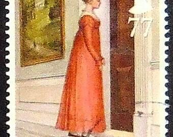 Jane Austen, Mansfield Park UK -Handmade Framed Postage Stamp Art 20721AM