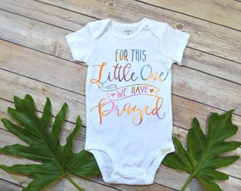 Rainbow Baby, For this Little One We Have Prayed, Special Baby Gift, Baby Shower Gift, Christian Baby Gift, Pregnancy Reveal, Baby Reveal