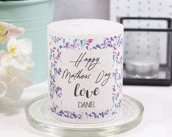 Personalised First Mother's Day Metallic Candle