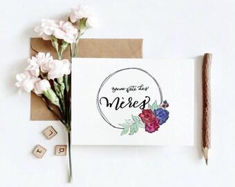 Carte de souhait   Bouquet de la fête des Mères (5 x 7 horizontal)
