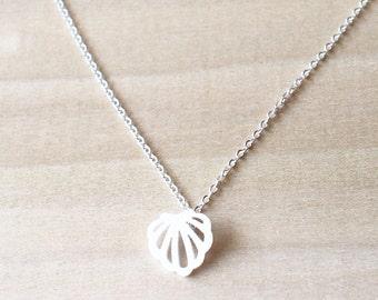 Tiny Seashell Silver Necklace