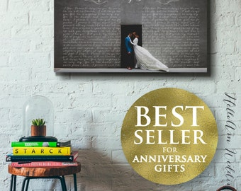 1st anniversary gift , Wedding Vow Art, 5th Anniversary Gift, Framed Wedding Vows, Wedding Vow Keepsake, Anniversary Gift, Gift for Groom