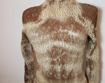FREE  SHIPPING  1980 Lace pullover