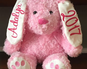 Baby first easter etsy personalized easter bunny babys first easter easter basket gift newborn baby gift negle Gallery