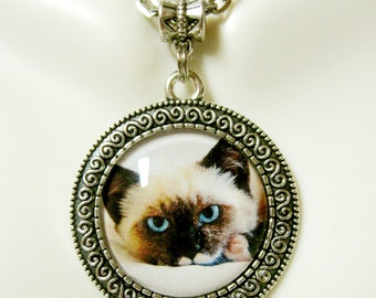 Ragamuffin cat pendant with chain - CAP05-170