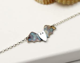 Sterling Silver Bat Bracelet - Bat Gifts - Bat Jewellery