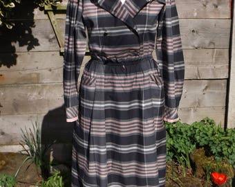 Betty Barclay Stripy Vintage Dress - Size 14