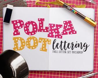 Polka Dot Letters SVG, Polka Dot Alphabet svg, Polka Dot Cut File, Polka Dot svg, Alphabet svg, Cut Files for Silhouette for Cricut