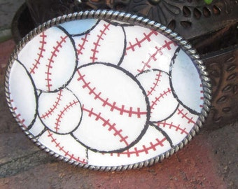 Baseball Belt Buckle  resin belt buckle