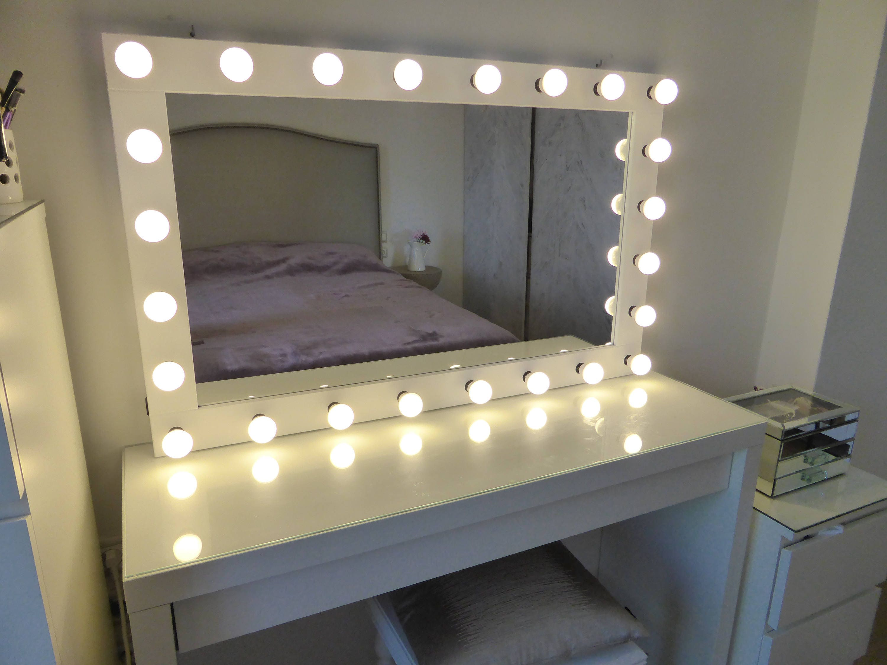 Xl Hollywood Vanity Mirror 43x27 Makeup Mirror
