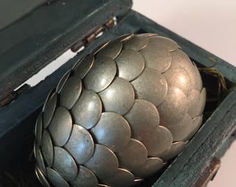 Dragon Egg with Box - Dragon Egg with Chest - Dragon Egg Decor - GoT Dragon Egg - ROSEMARY - Regal Style Box